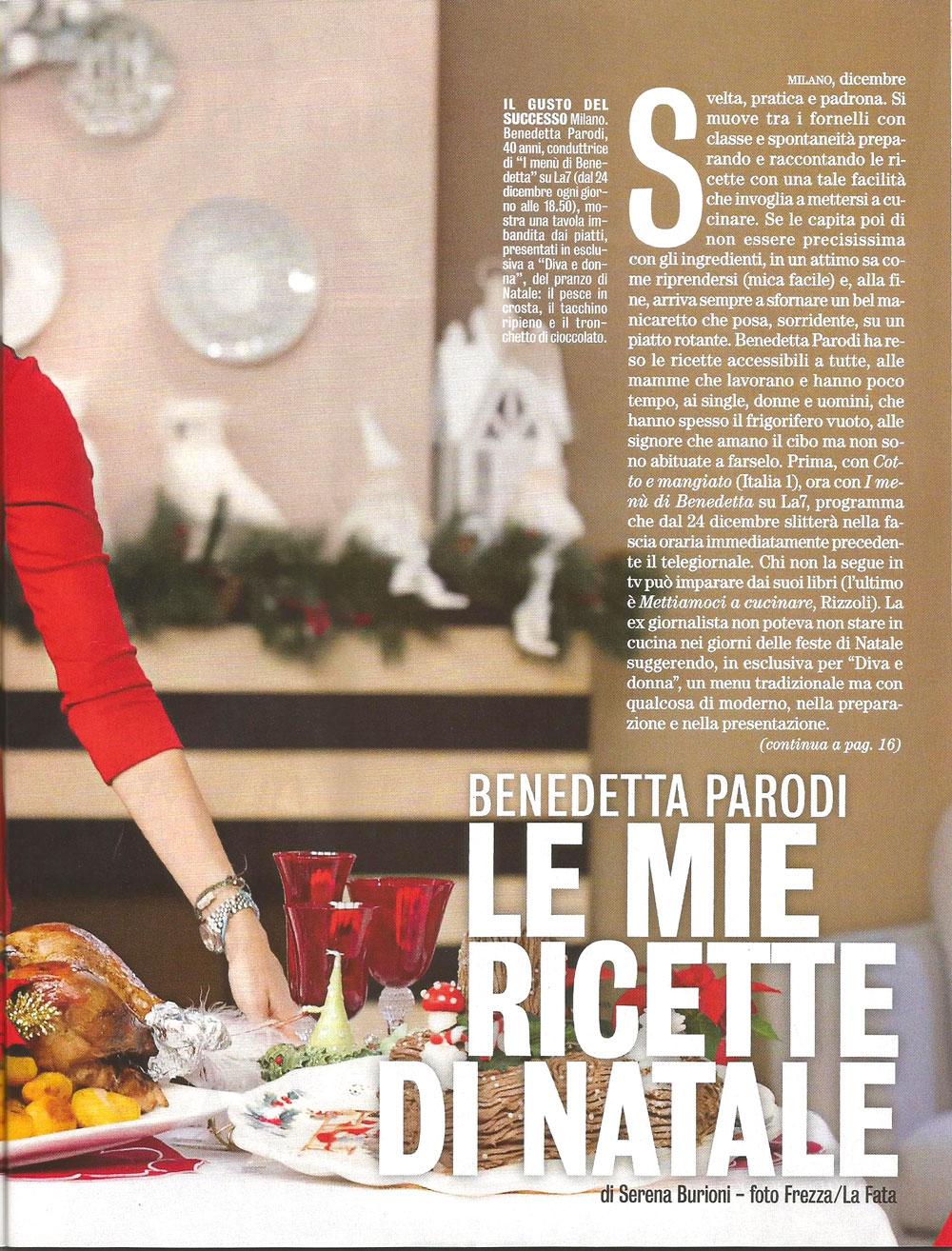 Stella Di Natale Benedetta Parodi.Diva E Donna Natale 2012 Lorenzo Boni Chef
