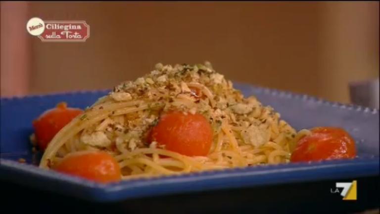 Spaghetti alla nduja con pomodorini alla vaniglia
