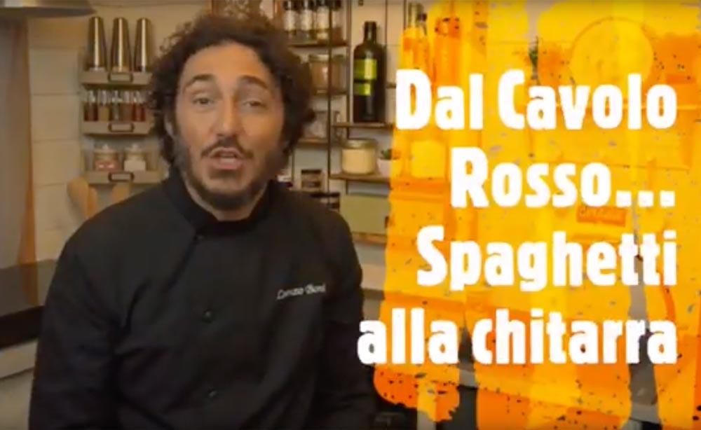 Dal cavolo rosso… Spaghetti alla chitarra